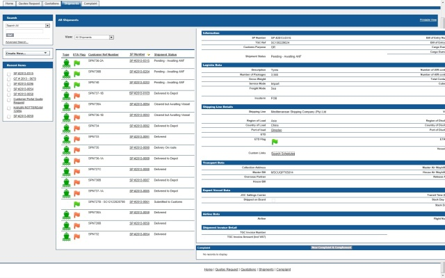 Shipments with Salesforce